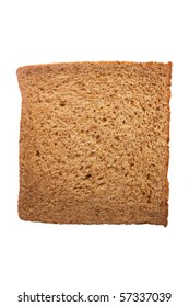 Slice of bread isolated on white. Close-up