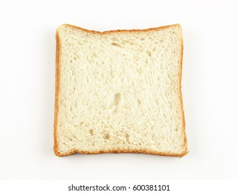 slice brown bread and white bread isolated on background