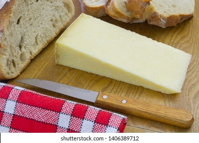 slice of cantal (French cheese)