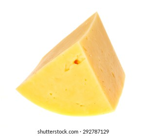 Slice cheese isolated on white background