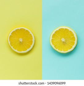 slice of cut lemon, summer fresh