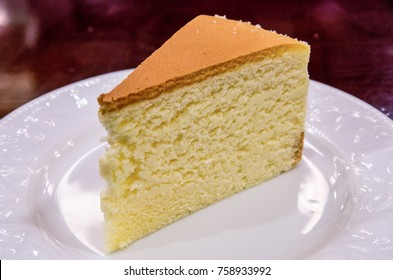 A slice of delicious sponge cake