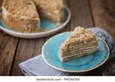 A slice of French Country-Style Cake