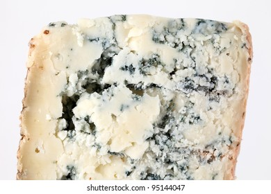 Slice of french musty cheese - Bleu basque variety