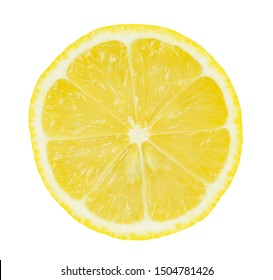 slice of fresh half lemon isolated on white background with clipping path