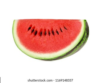A slice fresh watermelon isolated on white background.