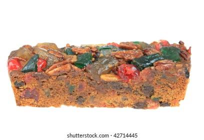 Slice of fruitcake.