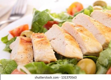 slice of grilled chicken