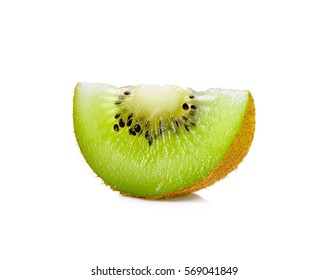slice kiwi isolated on the white background.