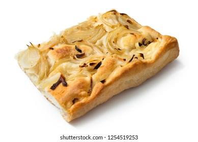 Slice of onion focaccia