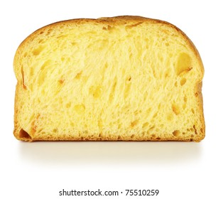 Slice of orange bread