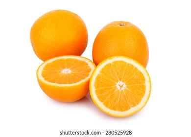slice orange isolated on white background