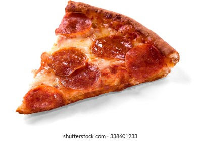 Slice Of Pepperoni Pizza - Isolated