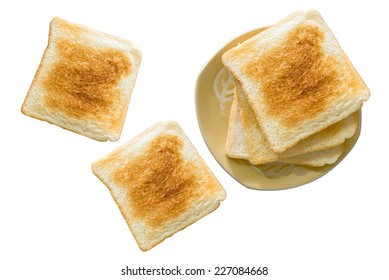 Slice toast bread isolated on a white background