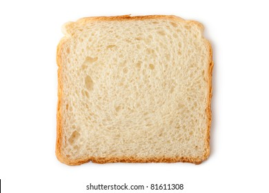 Slice of wheat toast bread. Isolated on white