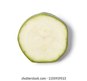 Slice of zucchini, close up.