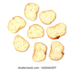 Sliced baguette bread, Baguette bread, French bread, Organic baguette francese on white background, Top view
