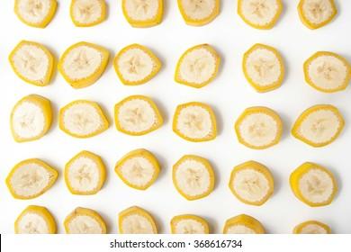 Sliced banana pattern horizontal