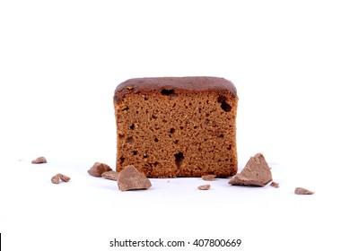 sliced bar cake chocolate slice slices in white