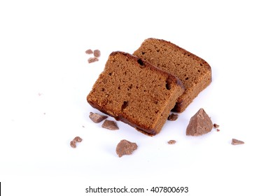 sliced bar cake chocolate slice slices in white