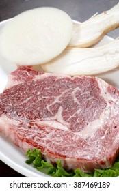 Sliced beef Korean BBQ menu
