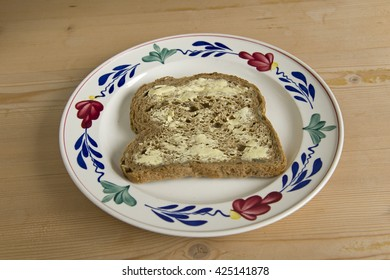 sliced bread with butter