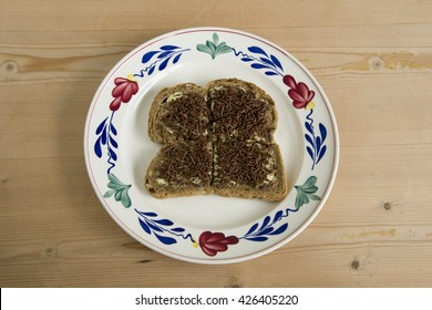 sliced bread with chocolate sprinkles