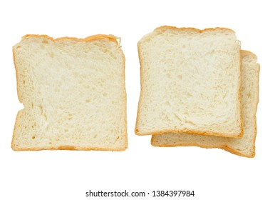 sliced bread isolated on white background with clipping path.