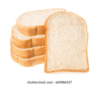Sliced of bread., Isolated on a white background.