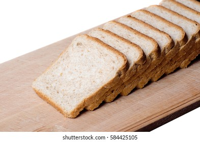 sliced bread on a board