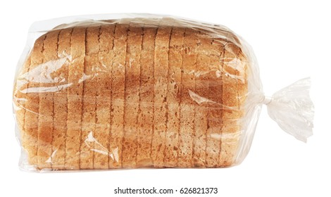 Sliced bread in plastic bag