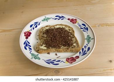 sliced bread with sprinkles