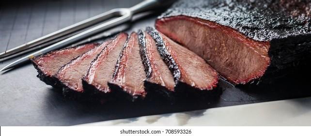 Sliced brisket