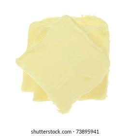 Sliced butter.
