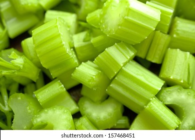 Sliced celery is in smoothy coctail