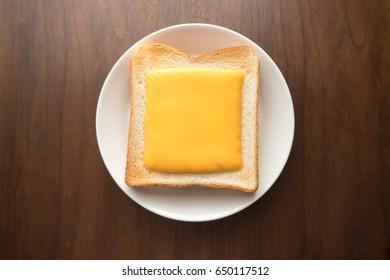 sliced cheese toast