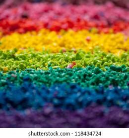 Sliced color pigment closeup photo
