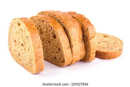 Sliced fresh bread isolated on white background cutout