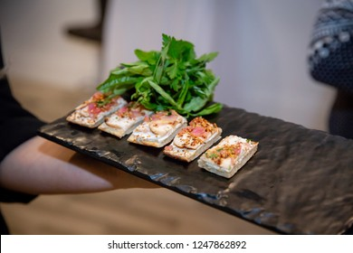 Sliced gourmet hors d'oeuvres
