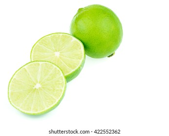 sliced green lemons, lemon is a sour juicy fruit, stacking focus added