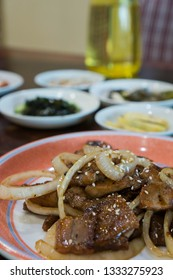 sliced Korean pork barbecue