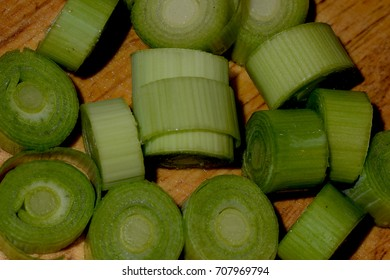 Sliced leek - ready for cooking