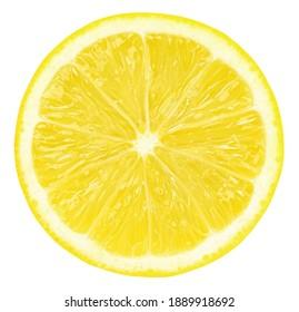 Sliced lemon fruit isolated ,Juicy sliced lemon,half.