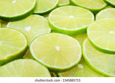 Sliced limes background