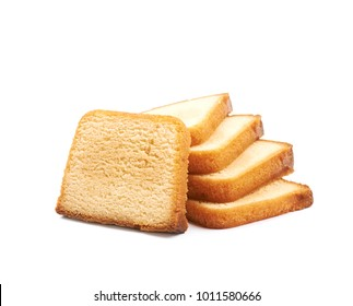 Sliced moist butter cake isolated over the white background