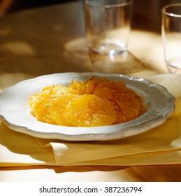 Sliced Orange for dessert