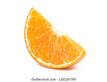 Sliced orange fruit isolated on the white background, With clipping path.