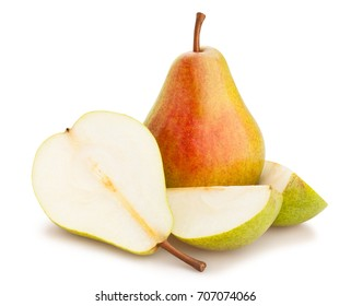 sliced pears path isolated