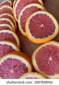 Sliced Pink Cara Cara Oranges