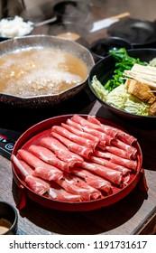 Sliced Pork for Japanese Shabu Shabu and Sukiyaki - Japanese Food Style